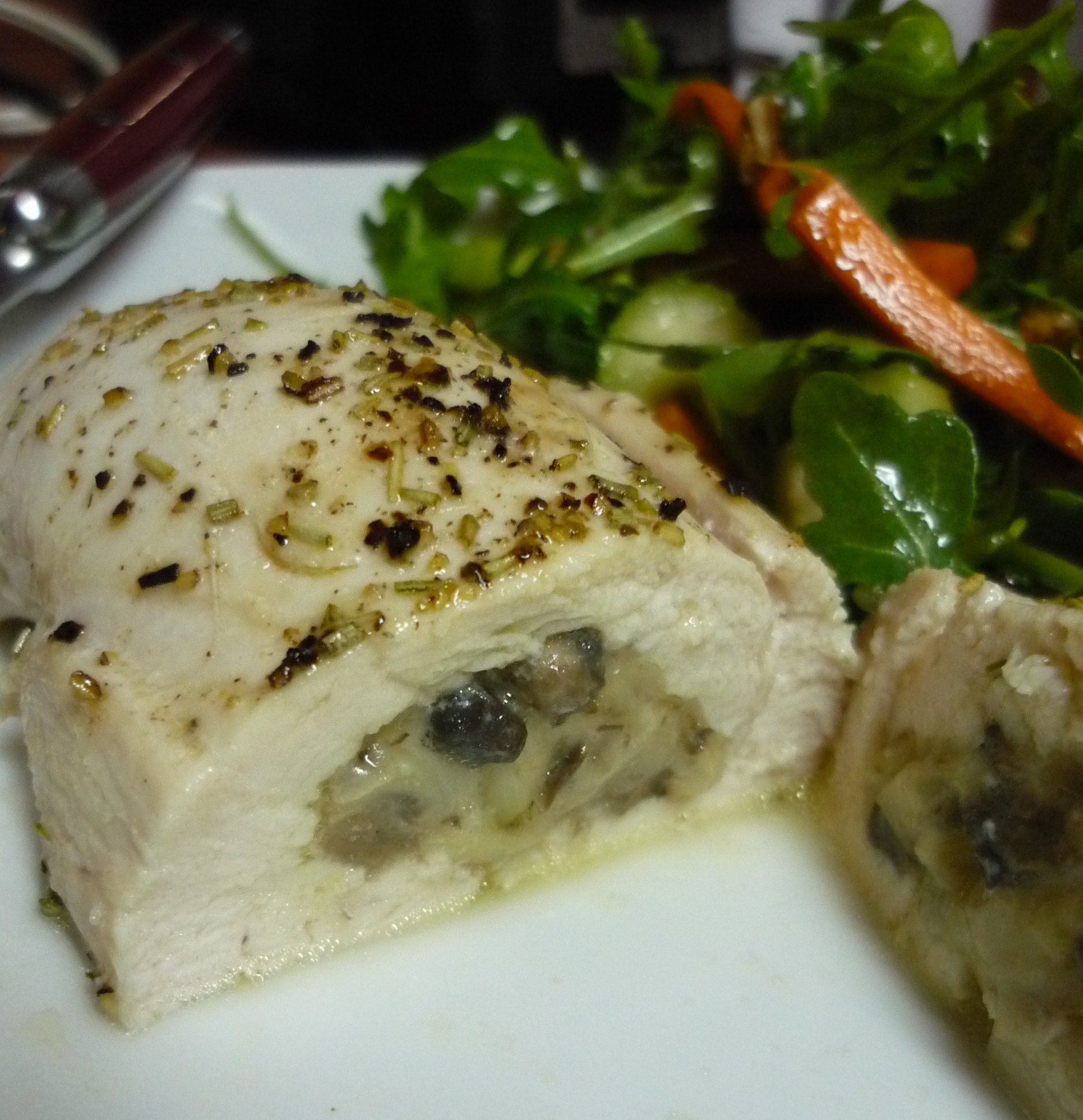 Parmesan and Mushroom Stuffed Chicken Breast | Things My Belly Likes