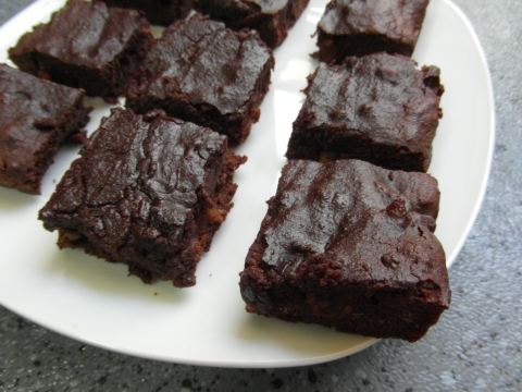 behold! coconut flour bacon brownies!