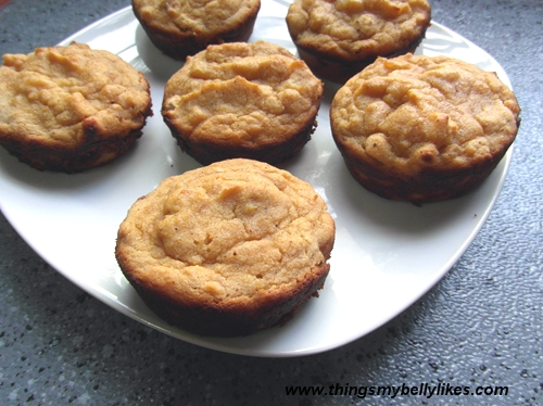 coconut flour works for cupcakes/muffins too (these are pear & nutmeg cupcakes)