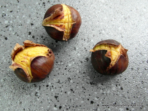 when it comes to chestnuts, I DO NOT SHARE