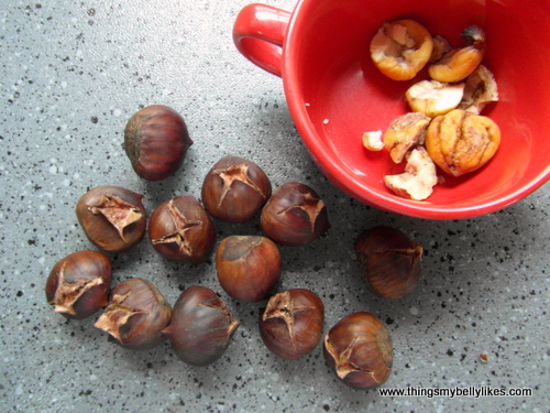 fun fact: chestnuts are a good source of vit C