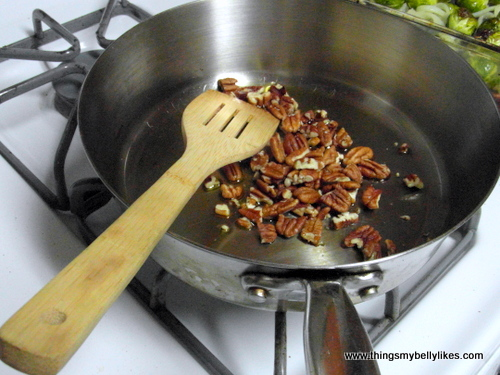 you know the pecans are toasted when they start to smell delicious