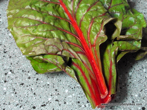 chard is high in vitamins A, K and C