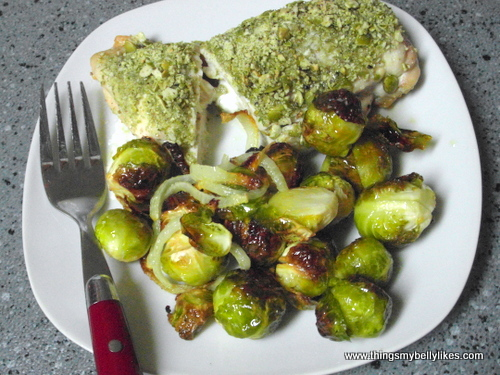 I had it with a mountain of brussel sprouts. I just love those suckers