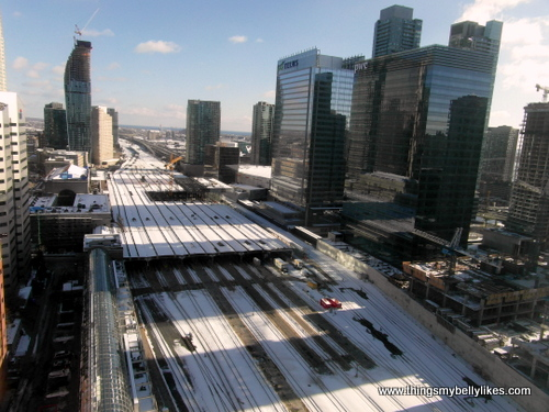 a snowy Union Station, Toronto