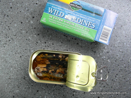 I used Wild Planet sardines - they're wild, sustainably caught AND it's a BPA-free tin. What more could you want?!
