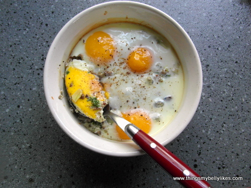 one of my yolks broke. I was very upset