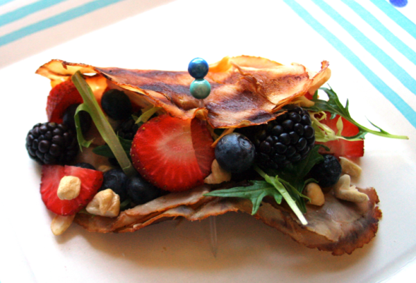 introducing the Berry Nutty Turkey Wrap (photo courtesy Ivy Martin)