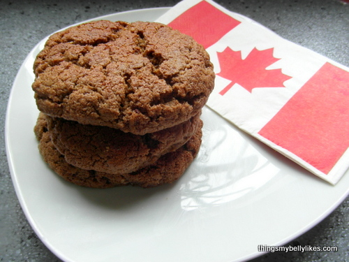 nothing says 'happy birthday Canada' like a tower of cookies