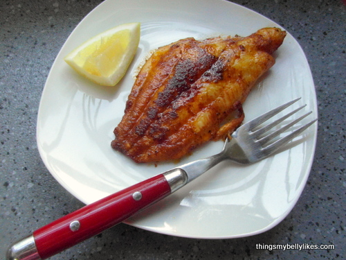 serve with a wedge of lemon for extra fanciness