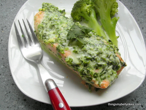 served with broccoli for extra health!