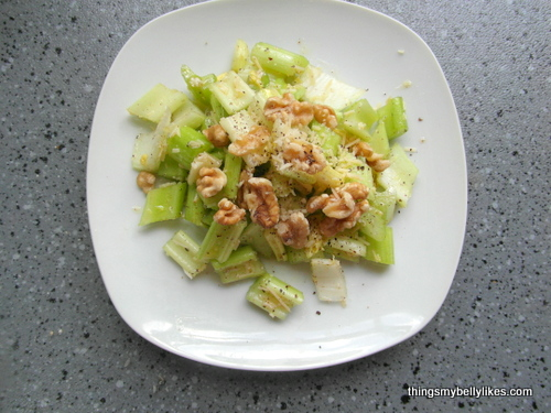 Celery & Parmesan Salad | Things My Belly Likes
