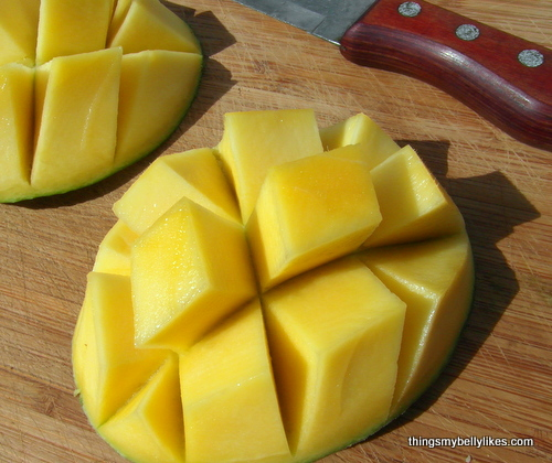 Mangos grow year-round here and are deliciously sweet