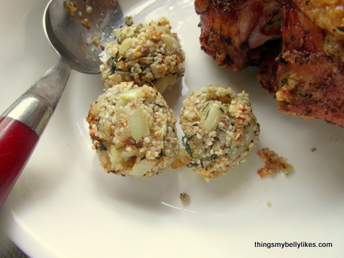 """despite being a lifelong stuffing-hater, hubs proclaimed it: """"The best stuffing I've ever tasted"""""""