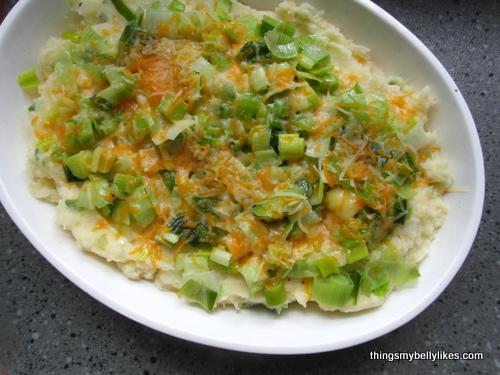 Leek & Garlic Mashed Potato Gratin | Things My Belly Likes