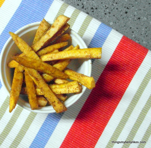 bake or fry - fried are crispier but baked use less fat
