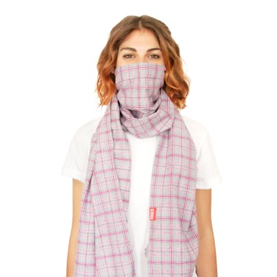 that's not me, that's their model....but you get the idea (FYI: this is the pink and grey flannel)